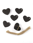 100pcs Black Paper Gift Tags with Free 105 Root Natural Jute Twine