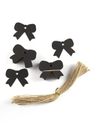 100pcs Black Paper Gift Tags with Free 103 Root Natural Jute Twine