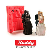 Platinum Ruddy(30 ShorA) top class silicone rubber for DIY mould making 350ml