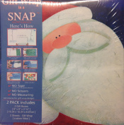 Gift Wrap in a Snap Santa Claus Gifts- Includes 2 Gift Boxes and 2 Sheets of Gift Wrap- 15cm x 15cm