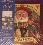Gift Wrap in a Snap Happy Holidays Gifts- Includes 2 Gift Boxes and 2 Sheets of Gift Wrap- 15cm x 15cm