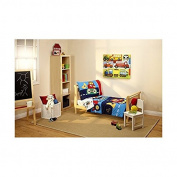 Everything Kids Under Construction 3-Piece Toddler Bedding Set with BONUS Matching Pillow Case