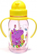 Peppa Pig Tritan Straw Water Bottle Kids