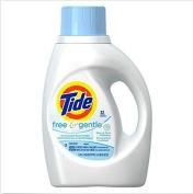 Tide Free and Gentle Hypoallergenic gentle on skin Liquid Laundry Detergent , 1480ml, 32 loads