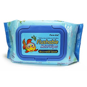Flushable Baby Wipes, Pure-Aid Natural Non-Alcohol Disposable Moist Flushable Baby Wipes For Face Hand Cleaning, Aloe and Vitamin E, 1440 Count