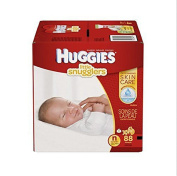 Huggies Little Snugglers Baby Nappies Keep skin clean and healthy Softe, Size Newborn, 88 Count (Packaging May New