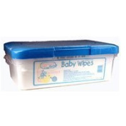 Huggies baby wipes with light scent, tub - 80 / Pack by Huggies