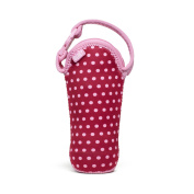 Built Bottle Buddy One Bottle Tote, In Baby Pink Mini Dots