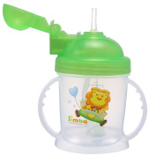 Simba Training Cup With Auto Straw, Orange, 180ml