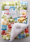 Sherpa Baby Blanket Reversible, 80cm x 100cm , baby builders design