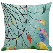 Pillow Cases,Dirance(TM) Home Decor Feather Printing Dyeing Square Throw Sofa Bed Decoration Cushion Cover