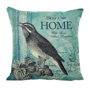 Pillow Cases,Dirance(TM) Home Decor Square Bird Printed Throw Pillow Case Decorative Cushion Pillow Cover