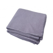 Baby 100% Cashmere Blanket Purple Luxury Mongolian 4-ply Cashmere for Winter, Hand-Knitted Cashmere Blanket