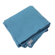 Baby 100% Cashmere Blanket Blue, Luxury Mongolian 4-PLY Cashmere for Winter, Hand-Knitted Cashmere Blanket
