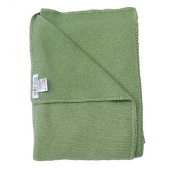 Baby 100% Cashmere Blanket Green, Luxury Mongolian 4-ply Cashmere for Winter, Hand-Knitted Cashmere Blanket
