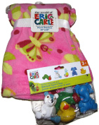 Bundle Eric Carle Plush Blanket (80cm x 100cm ) and Bathtub Squirt Toys
