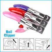 Constructan(TM) 2PCS Professional French Nail Art Tool False Nail Clipper Edge Cutter Acrylic Shear Tip