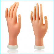 Constructan(TM) 1Pcs Flexible Soft Plastic Flectional Mannequin Model Fake Hand for Nail Art Practise Display Tool