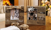 Burlap Photo Block - 2 Assorted