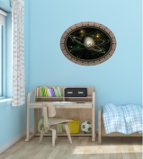 60cm Porthole Outer Space Ship Window View ALIEN EXO PLANET #1 OVAL Wall Graphic Kids Decal Baby Room Sticker Home Art Décor MEDIUM