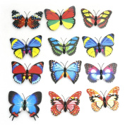 Preamer 20 pics 3D Simulated Butterfly Magnets Refrigerator Magnetic Stickers