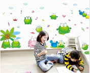 Interbusiness Children's Room Lovely Frog Stickers Nursery Wallpaper Bedroom Living Room Wall Decorative Wall Stickers
