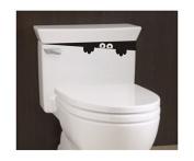 Toilet Monster Bathroom Decal Funny vinyl sticker wall art Artistry