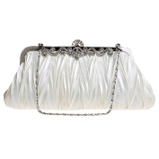 ABage Women's Clutch Purse Small Satin Beaded Party Prom Wedding Evening Handbags