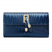 ABage Women's Envelope Clutch Genuine Leather Flap Party Evening Clutch Purses