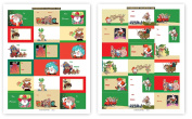 72 Western Theme Gift Tag Stickers For Presents - Southwest Assorted Christmas Stickers