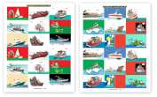 72 Boat Theme Gift Tag Stickers For Presents - Nautical Assorted Christmas Stickers