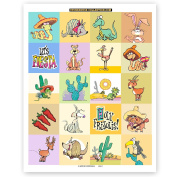 80 Desert Animal Stickers - Fun Assorted Desert Theme Stickers