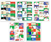 90 Gift Tag Stickers For Presents - Very Fun & Cute Assorted Christmas Stickers - 54 Unique Designs