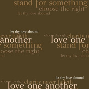 Love One Another - Small Gift Bag - LDS Gift Bag, Relief Society Gift Bag