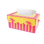 Btibpse 3d Cross Stitch Kits Simple Embroidery Tissue Box Needlecrafts for Beginners / Kids / Girls / Women