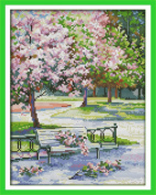 CaptainCrafts Hots Cross Stitch Kits Patterns Embroidery Kit - The Spring In The Park