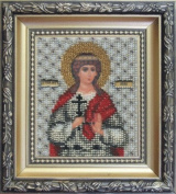Beadwork kit Charivna mit #B-1055 The Icon of St. Martyr Alla 9x11 cm / 3.54x4.33 in