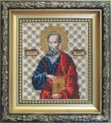 Beadwork kit Charivna mit #B-1054 The Icon of Apostle Paul 9x11 cm / 3.54x4.33 in