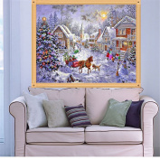 MEXUD-Cross Stitch with DIY 5D Diamond Embroidery Painting Winter Christmas for Home Decor Craft