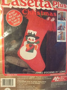 Vintage 1985 Lasetta Plus Christmas Jumbo Snowman Stocking Kit- Jumbo Stocking 50cm Long