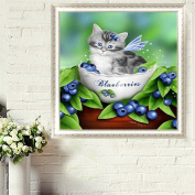 LAY'S 5D Diamond Cross Stitch Painting Embroidery Plant Cat Animal or Home Wall Decoration