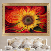 LAY'S 5D Diamond Painting Cross Stitch Kit Sunflower Pattern Embroidery Wall Home Decoration