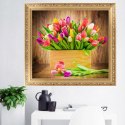 LAY'S 5D Diamond Painting Cross Stitch Kit Lily Flower Pattern Embroidery Crafts Home Wall Decor