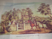 American Country Life MAY MORNING Currier & Ives Needlework Kit 2413