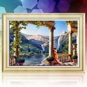 38x50cm 5D DIY Rome Castle Diamond Painting Resin Full Rhinestone Scener Cross-stitch Kit -Locsto