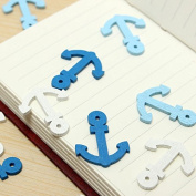 50pcs Wooden Mini Boat Anchor Spear Pendant Scrapbooking Home Buttons Handmade Accessories -Locsto