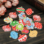 20pcs Christmas Wooden Sewing Buttons DIY Craft Purse Baby Clothes Decoration Sewing Button -Locsto