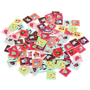 100pcs Wooden Owl Pattern Sewing Buttons DIY Craft Purse Baby Clothes Decoration Sewing Button -Locsto