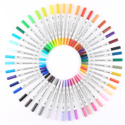 Smart Colour Art - 2 Pack Dual Tip Brush Pens with Fineliner Tip Art Marker