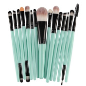 Elaco 15pcs Makeup Brush Set tools,Make-up Toiletry Kit Wool Make Up Brush Set